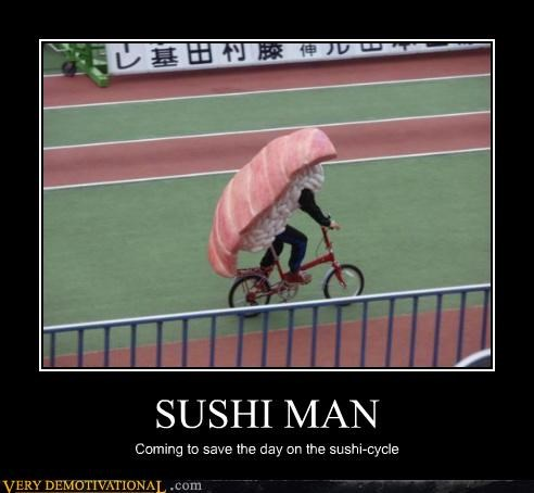 sushi,cycle,bike,superhero