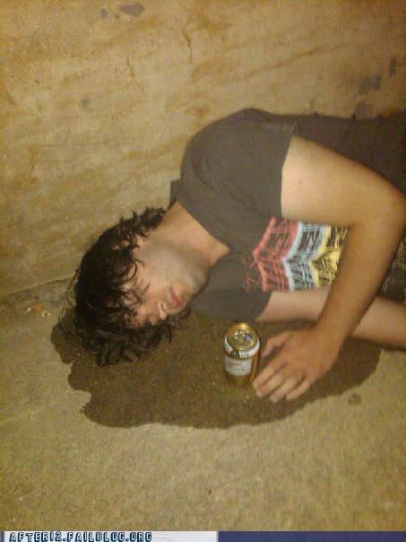 beer can drunk passed out pee piss - 4497730304