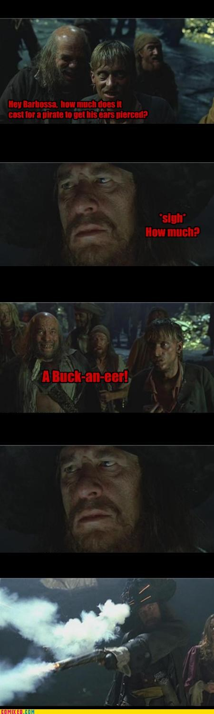 fashion guns joke pirates Pirates of the Caribbean puns - 4497756416