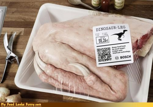 claws dinosaur leg meat shrinkwrapped - 4497918208