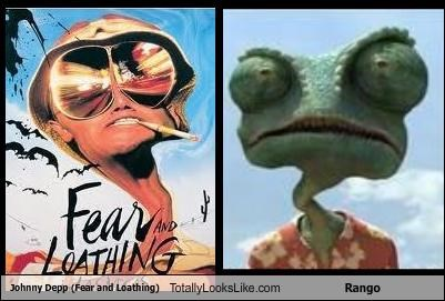 actors,animation,fear and loathing in las vegas,Johnny Depp,lizard,movies,rango