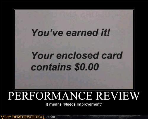 needs improvement performance review zero dollars - 4498775296