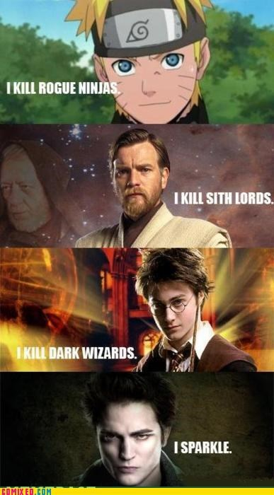 classic edward cullen Harry Potter lol naruto Obi won kenobi