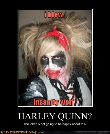 batman Harley Quinn Insanity Wolf joker makeup - 4499162624
