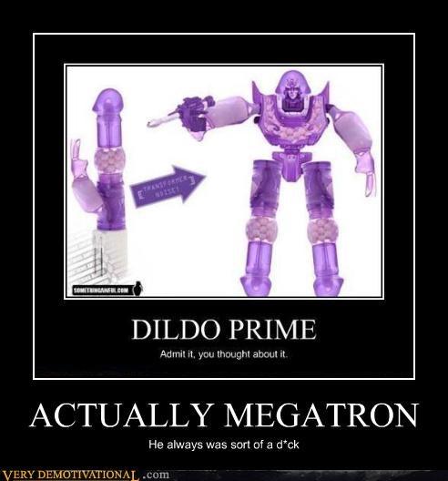 creepy megatron robot Rubber Roger Stick wtf - 4499537408