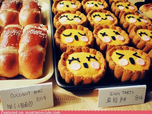 egg,epicute,faces,happy,kawaii,tarts