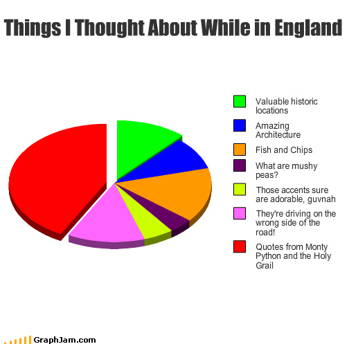pie charts tourist americans england graphs funny - 4499686656
