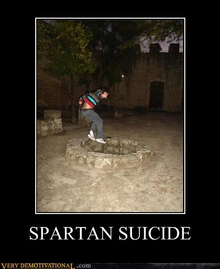 bad idea spartan suicide well wtf - 4499766784