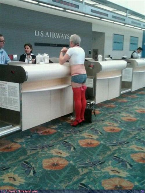 airport,cross dresser,Protest,terminal,weird,wtf