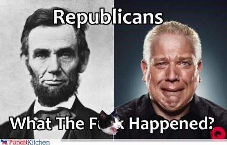 abraham lincoln,glenn beck,Republicans,wtf