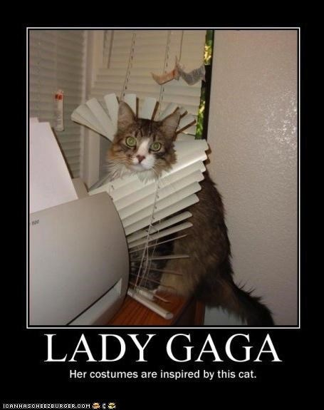 blinds caption captioned destruction FAIL fashion Hall of Fame lady gaga oh noes pop culture - 4500582144