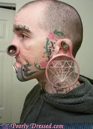 gauges piercings plugs tattoos wtf - 4500749824