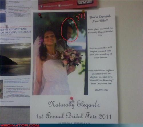 advertisement,bridal fair,creepy wedding photos,funny wedding photos