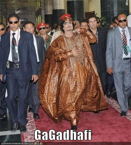 dictators,fashion,lady gaga,libya,muammar al-gaddafi