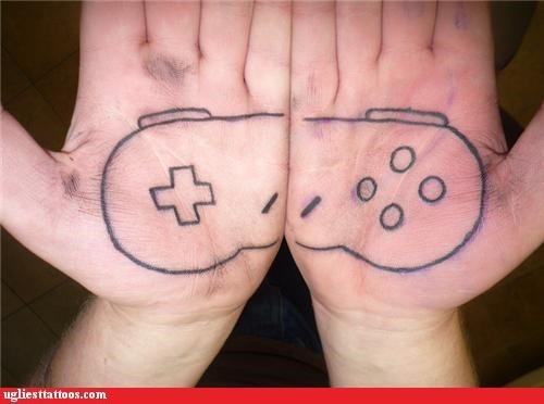Super Nintendo,nerdgasm,video games,funny,g rated,Ugliest Tattoos