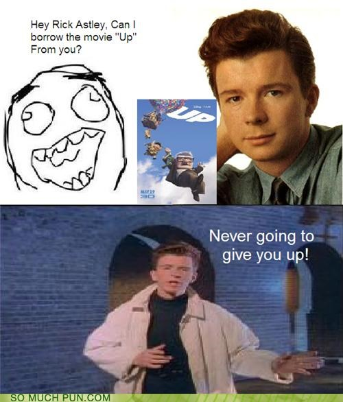 answer chorus double meaning give literalism lyric lyrics never never gonna give you up question rick astley rickroll song up