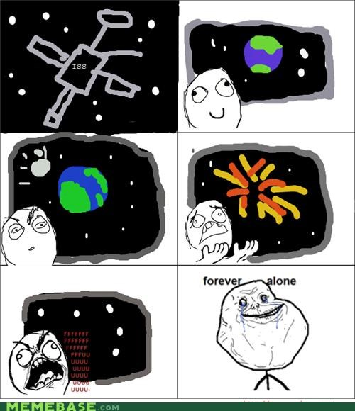 deadly meteor forever alone so ronery space station