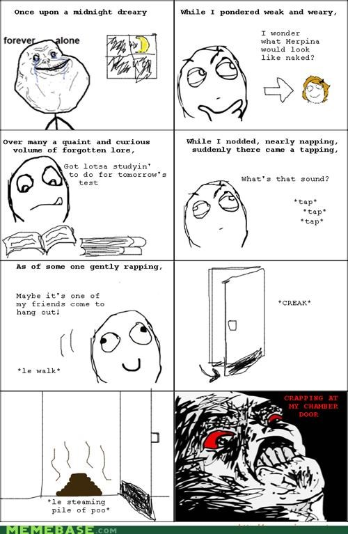edgar allen poe,poetry,poo,Rage Comics,raisins-super-fuuuu