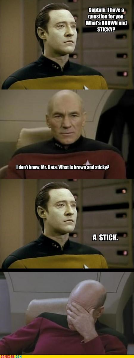 data,jean-luc picard,puns,Star Trek