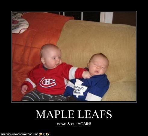 MAPLE LEAFS down & out AGAIN!