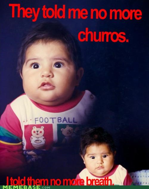 chubby,churros,cutie,delicious,kid,Memes