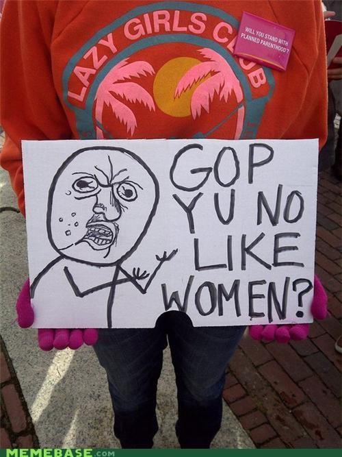 protesters signage The Internet IRL Y U No Guy - 4503307264