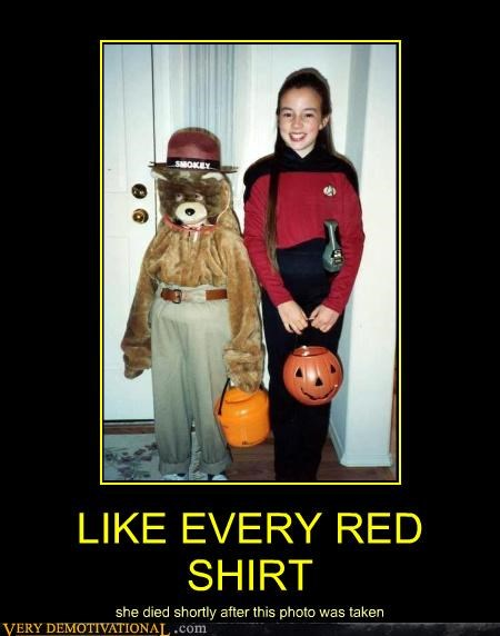 costume halloween next gen red shirt Smokey the Bear Star Trek - 4503413248