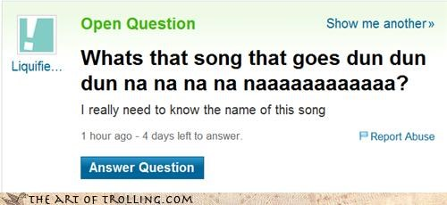 lyrics song wtf Yahoo Answer Fails