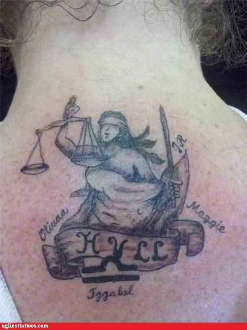 justice,back piece,spelling,funny
