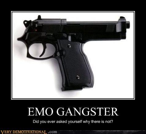 bad idea emo grammar gun sad face - 4504694528