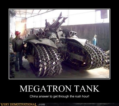 MEGATRON TANK China answer to get through the rush hour!