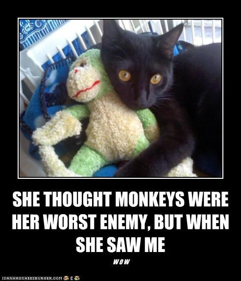 SHE THOUGHT MONKEYS WERE HER WORST ENEMY, BUT WHEN SHE SAW ME W O W