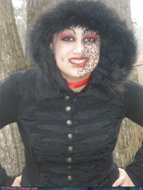 jacket make up piercings puzzle scary - 4505827840