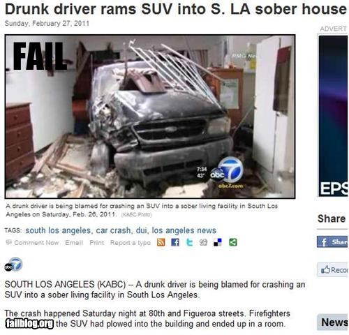 bad idea crash drinking irony driving failboat g rated Probably bad News sober house - 4505923072