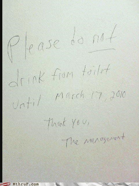 gross note sign toilet wtf