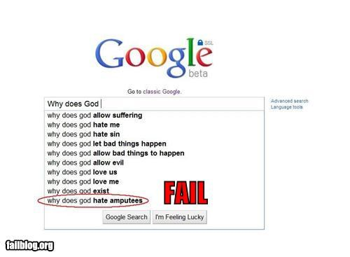 amputes Autocomplete Me failboat google haterade religion search - 4506199552