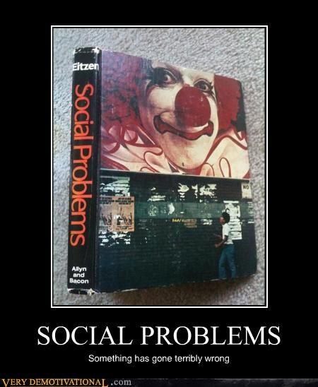 clown scary social problems Terrifying - 4506389504