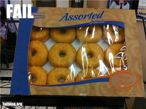 Assorted fail Assorted donut fail