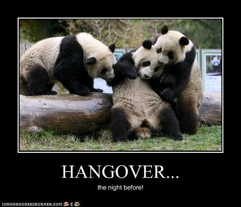 HANGOVER... the night before!