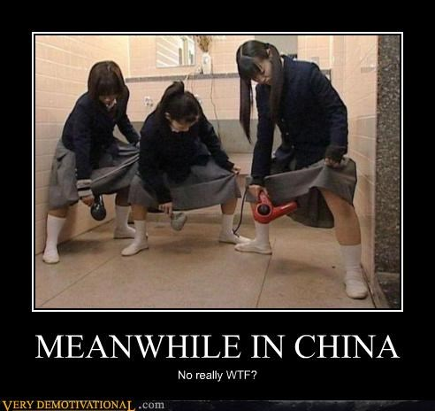 China,crotch,hair dryer,lady parts,wtf