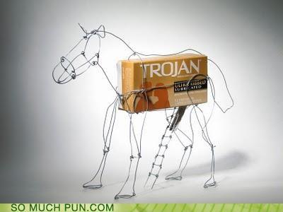 brand,condom,horse,literalism,trojan,trojan horse