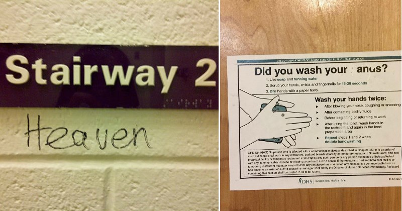 Hilarious Instances of Sign Graffiti That Are Brimming With Mirth