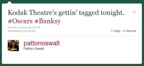 banksy,oscars