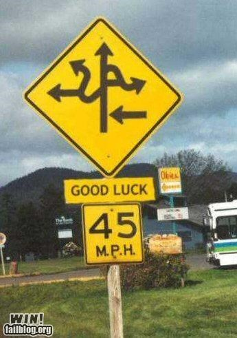 hacked road signs shopped wtf