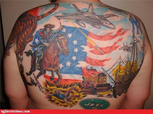 wtf,back pieces,tattoos,jets,funny