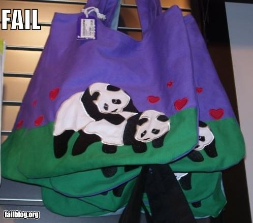 accessories animals bag failboat innuendo panda purses Things That Are Doing It - 4507934976