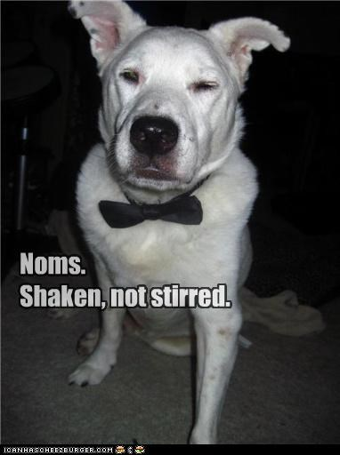 akita bow tie catchphrase Command james bond mixed breed noms not order request shaken stirred tie - 4508286976