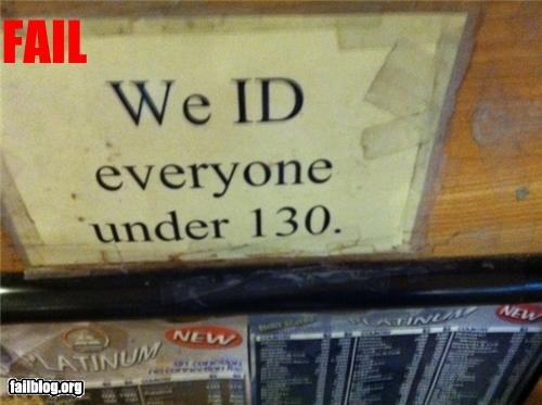 Just In Case... Sign at local Asian market. They carded everyone.. even my great, great, great grandpa.