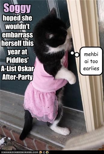 hoped she wouldn't embarrass herself this year at Piddles' A-List Oskar After-Party Soggy mehbi ai too earlies
