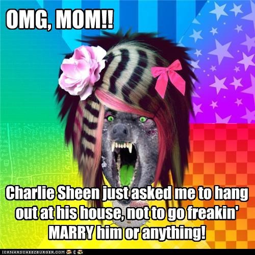Charlie Sheen,hes-a-gentleman,scene wolf